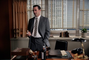 If I could really shape shift, I would look like Don Draper, but a lot happier.
