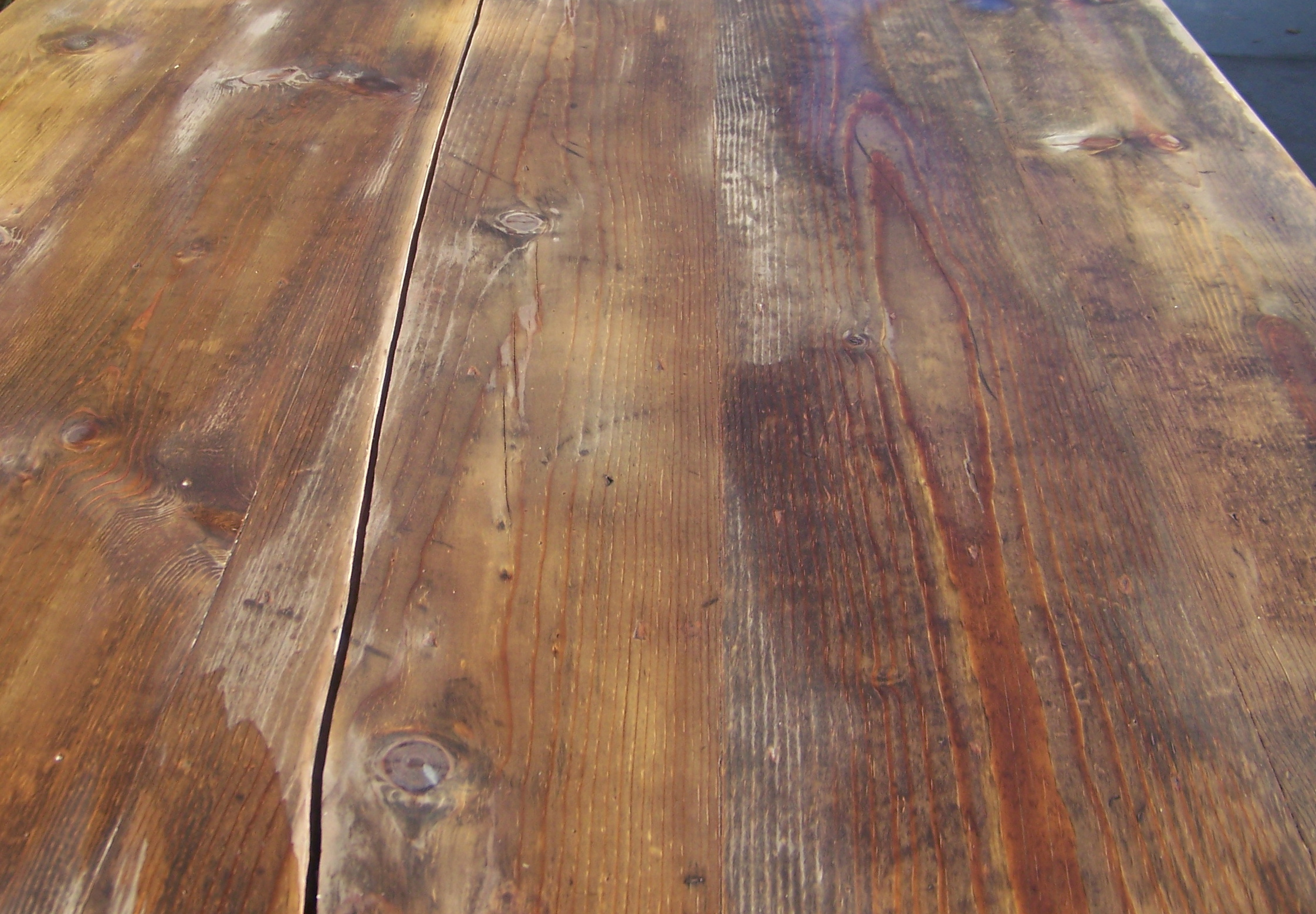 homemade apple cider vinegar and steel wool stain applied to a table i bought on craigslist for. Black Bedroom Furniture Sets. Home Design Ideas