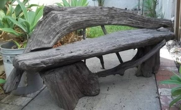 This is the small bench. It's almost 5-feet long and takes two people to lift it.