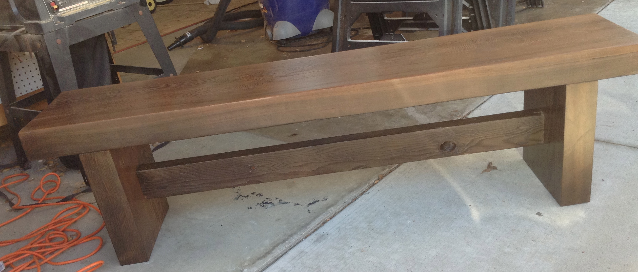I build a bench from reclaimed wood the unknown cystic for Used lumber los angeles