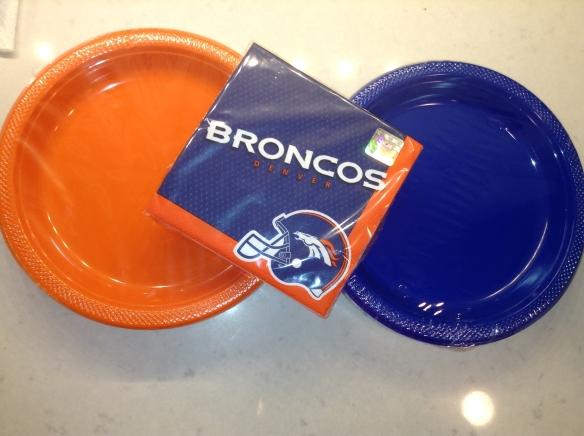 Table wear in orange and blue. Martha Stewart detail.