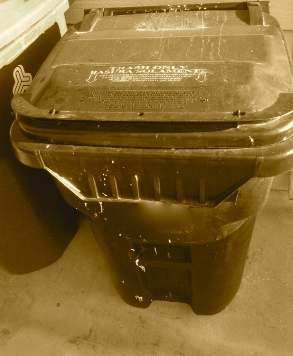 Who is that hiding in the trash can? It's the unknown jack-in-the-box.